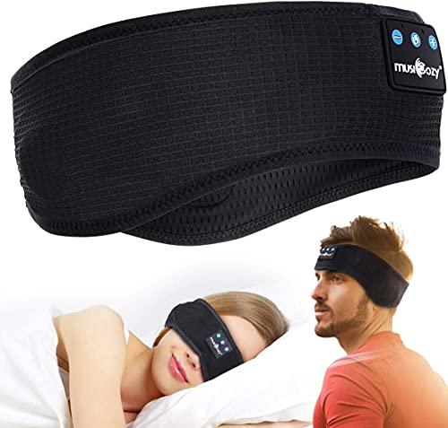 Schlafkopfhörer Bluetooth- Kabellos V5.0 Sport Stirnband Kopfhörer Musik schlafen HD Stereo Lautsprecher,Perfekt für Sport, Seitenschläfer, Flugreisen, Meditation und Entspannung