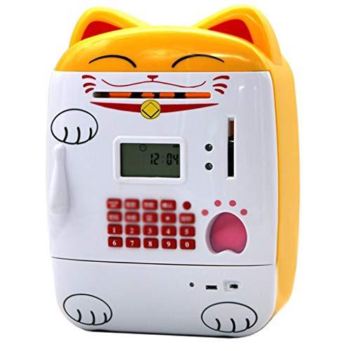 LJXLXY Caja de Dinero Huella Digital Contraseña Hucha Contando Carga Gran Hucha Regalo de cumpleaños Creativo Juguetes educativos for niños Huchas para Adultos
