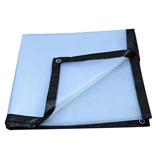 LIANGJUN Bâche De Protection Tissu Anti-Pluie Tissu Plastique Anti-oxydant Épais Antistatique Coupe-Vent Extérieur,23 Tailles 200g/M² (Couleur : Clair, Taille : 4.8m×5.8m)