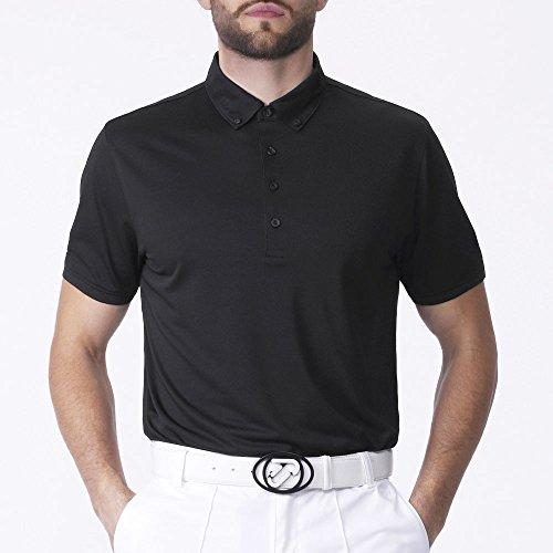 IJP Design, Polo da Golf Uomo - Tour, Nero (Schwarz), XL