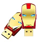 Pen drive De 32gb Cabeça Homem De Ferro Iron Man Marvel