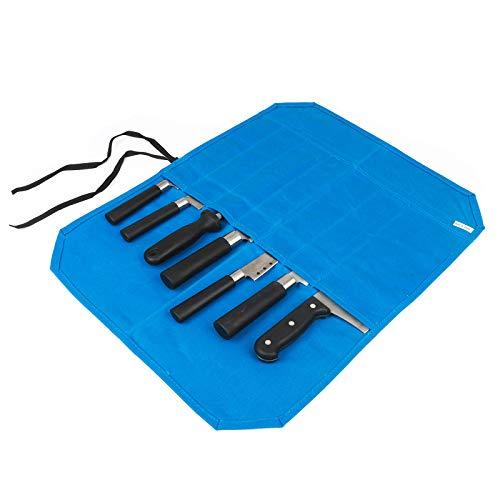 JURONG Bolsa de viaje portátil para cuchillos de cocina, con funda para cuchillos, con 7 ranuras, para cocineros profesionales, hombres y mujeres, para guardar cuchillos