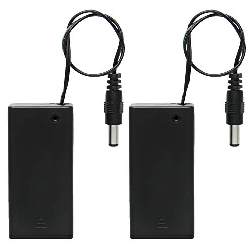 Gikfun 9v Battery Holder with ON/Off Switch for Arduino (Pack of 2PCS) EK2107x2