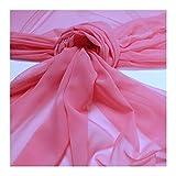 Stoff am Stück Stoff Polyester Chiffon rosa transparent