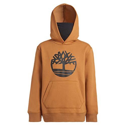 Timberland Boys' Hoodie Sweatshirt with Gaiter Facemask, Buckwheat, X-Large (18/20)