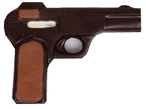 08#031621 Schokoladen Pistole, Zartbitter, Schütze, Waffe, Krimidinner, Geburtstag, Geschenke, Dinner Krimi, schiessen