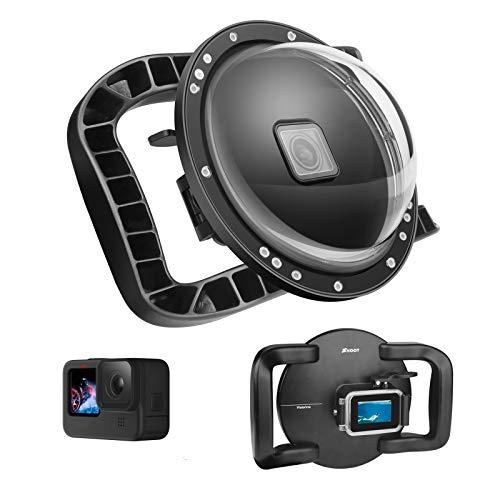 SHOOT Stabilisatorgriff mit Zwei Griffen Dome Port für GoPro Hero 9 Action Kamera-Gesamtkonzept,Bequeme Bedienung,Wasserdicht bis zu 45m/147ft