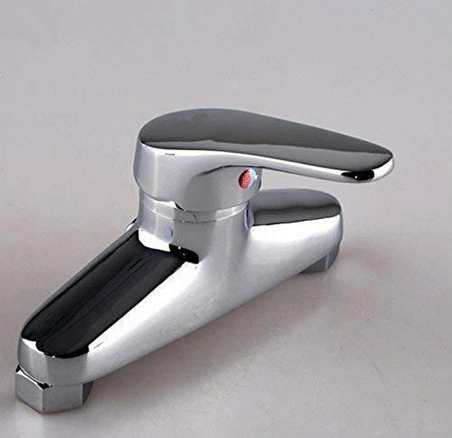 ZJN-JN Grifería de Lavabo Cuarto de baño del fregadero grifo en la pared caliente y agua fría termostáticos Grifos for lavabo del baño Accesorios para el baño