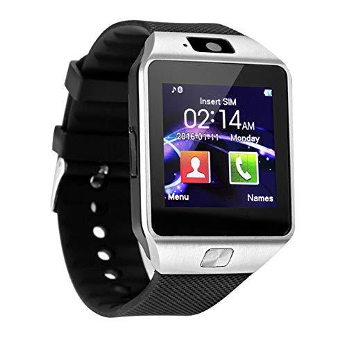 YDL Bluetooth Smart Watch DZ09 Llamada para El Teléfono Android Relogio 2G gsm SIM TF Cámara De La Tarjeta para iPhone Samsung Huawei Bluetooth Smart Watch (Color : Silver)