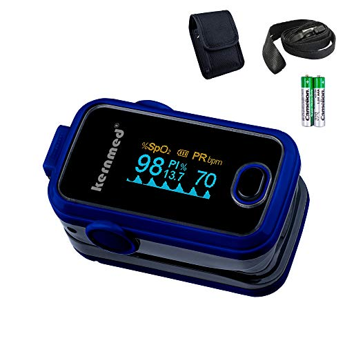 Kernmed OLED Finger Pulsoximeter A310 blau+Alarm+Pulston+Perfusion Oxymeter