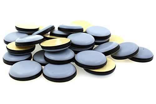 Lifeswonderful - PTFE-Teflon-Möbelgleiter – rund – selbstklebend – verschiedene Größen erhältlich (80 mm, 4 Stück)