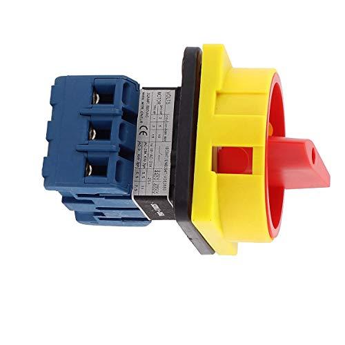 Aexit AC 600V 25A ON / OFF 2 Posiciones Interruptor de cambio de (model: B4073IV-2378CG) leva rotativo trifásico
