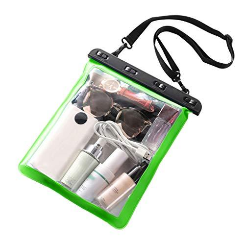 haia7k4k Bolsa de playa transparente de PVC para natación, bolsa impermeable, apto para natación, color Verde, talla Medium