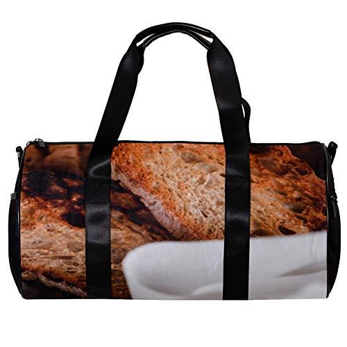 TIZORAX Seesack für Damen und Herren, gegrilltes Toast, Brot, Sport, Fitnessstudio, Reisetasche, Outdoor, Gepäck, Handtasche