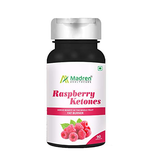 Madren Healthcare Raspberry Ketones Weight Loss Supplement for Women and Men 90 Vegetarian Capsules