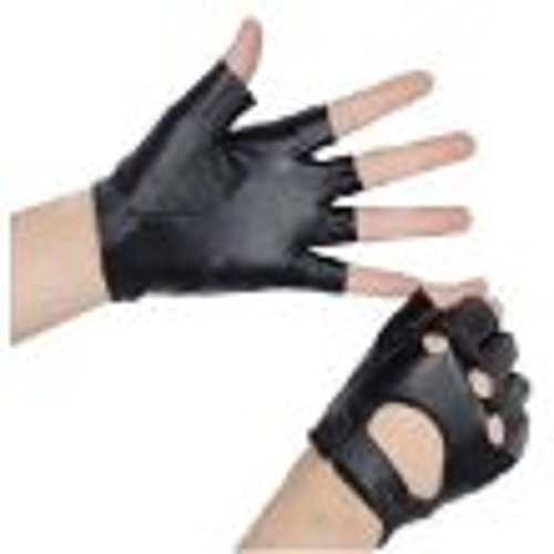 Such as (a smart phone) mobile punk costume cosplay smartphone fishing bike bicycle fashion! Fashion thin light and faux leather fingerless gloves half finger gloves half finger open finger synthetic leather PU leather and vinyl! Man M size about black / black (japan import)