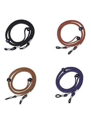 27.9 Inch Eyeglass Holder Adjustable Glasses Strap Cord String, 4 Pieces