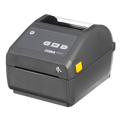 Zebra ZD420d Direct Thermal Desktop Printer 203 dpi Print Width 4 in WiFi Bluetooth USB ZD42042-D01W01EZ