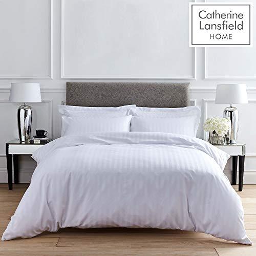 Catherine Lansfield So Soft Stripe King Duvet Set White