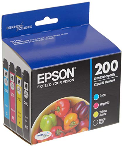 EPSON T200 DURABrite Ultra Ink Standard Capacity Black & Color Cartridge Combo Pack (T200120-BCS) for select Epson Expression and WorkForce Printers
