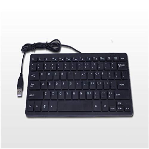 GeWu888 Teclado El Interfaz del Escritorio Silencio Ordenador Ultra-Delgada Oficina Juego 78 Clave para la Oficina en casa (Color : Black)