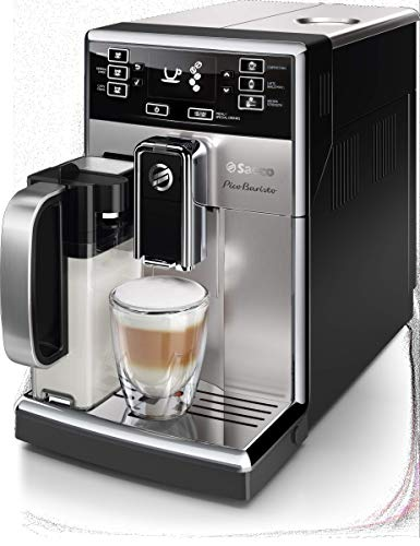Saeco picobaristo super automatic espresso machine, 1. 8 l, stainless steel, hd8927/47 7 easily select one of 15 delicious drinks, or customize it to your taste with coffee equalizer and save it to one of 6 user profile our patented aquaclean water filter eliminates the need to descale for up to 5,000 cups get superior taste for 20,000 cups with our durable ceramic grinders