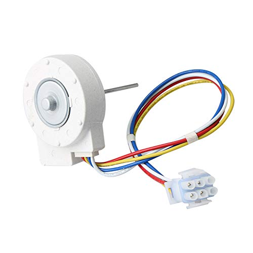 Metal WR60X10185 Evaporator Fan Motor Kit Refrigerator Replacement for WR60X10154 WR60X10043 1170107 White