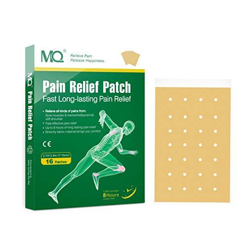 MQ Schmerzpflaster zur Linderung von Rücken-, Gelenk-, Muskelschmerzen, 7 x 10 cm, 16 Stück