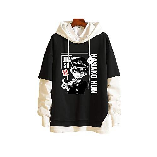 Meelanz Unisex Hoodie Anime Pullover Sweatshirt Long Sleeve for Men Women (Black6,M)