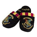Harry Potter Hogwarts Crest señoras zapatillas de felpa zapatillas negras - 38-40