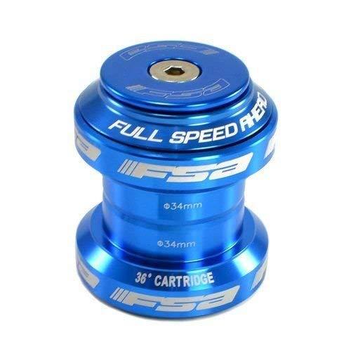 FSA Orbit MX 1-1/8Inches Threadless MTB Road Headset with Top Cap, Blue, NO.20, XTE1505