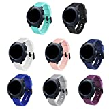 GinCoband Samsung Gear Sport Bands Replacement Accessories for Samsung Gear Sport SmartWatch 8 Color No tracker (8-Colors Pack, Buckle Design)