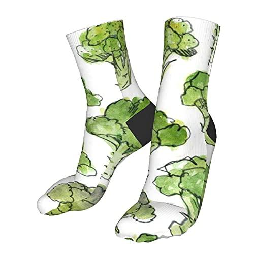 Jupsero Calcetines casuales Brócoli verde Medias de tubo deportivas Mujeres Hombres Calcetín largo deportivo
