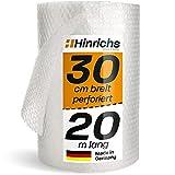 Hinrichs Rollo Burbujas Embalaje 20 Metros Perforado 30cm de Ancho - Papel Burbujas Embalaje Mudanza - Plastico Burbujas Embalaje 100 % Reciclable