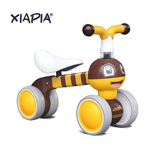 Baby Toddler Tricycle Bike No Pedals 10-36 Months Ride-on Toys Gifts Indoor Outdoor Balance Bike for One Year Old Boys Girls First Birthday Thanksgiving Christmas (Bee)