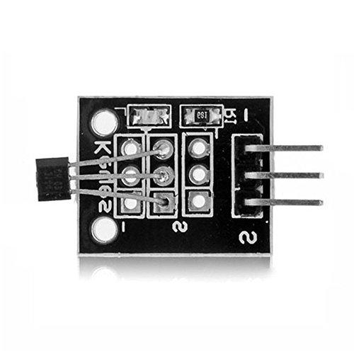 quickbuying 5pcs PCB módulo de efecto Hall Sensor magnético DC 5V para Arduino Temperatura de respuesta rápida Durable calidad módulos Junta