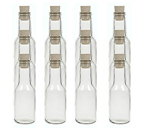 Juego de botellas de cristal de hocz con tapón de corcho, 6/8/10 piezas, capacidad de 150 ml, tapón de corcho, botella de aceite, botella de cristal (10 unidades)
