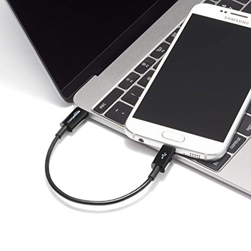 Amazon Basics - Verbindungskabel, USB Typ C auf Micro-USB Typ B, USB 2.0, 15,2 cm, Schwarz