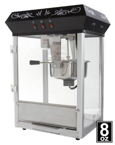 8oz Black Popcorn Maker Machine by Paramount - New Full Size 8 oz Popper: Paramount-Entertainment