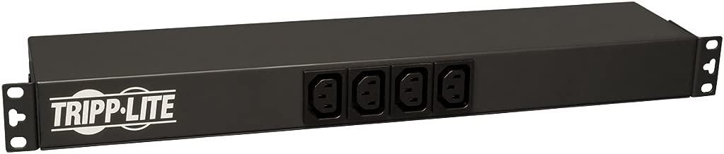 Tripp Lite Basic PDU, 20A, 14 Outlets (2 C19, 12 C13), 100-240V, C20 & L6-20P Adapter, 12 ft. Cord, 1U Rack-Mount Power (PDUH20DV)