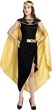 TerriTrophy Halloween Costumes for WomanEgyptian Cleopatra Costume Egyptian Queen Costume,Greek Goddess Costume