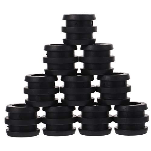 BESPORTBLE Tischfußball Stangenpuffer Ersatzteile Gummipuffer Tischkicker Zubehör für Kickerstangen Stoßfänger 10 Stück ( Schwarz )