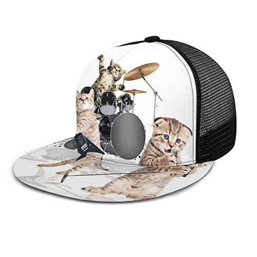 Gorra de béisbol Rocker Band of Kittens Cantante...