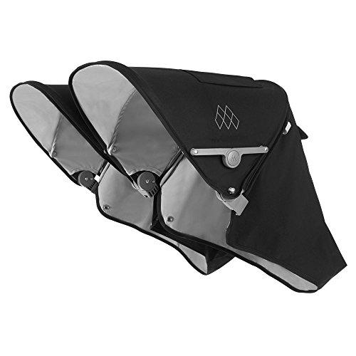 Maclaren Twin Techno Hood - Ausziehbare UPF50 + / wasserdichte Kapuze für Twin Techno Buggys. Erhältlich in Schwarz