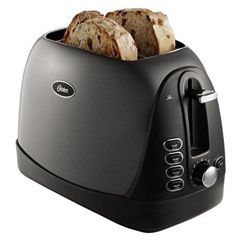 Oster 2-Slice Toaster, Metallic Grey (TSSTTRJBG1) (Renewed)