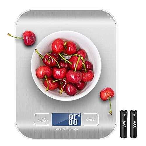 Newdora Báscula Digital para Cocina de Acero Inoxidable con Pantalla LCD...