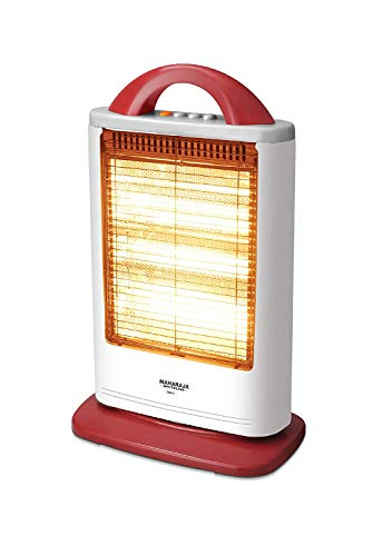 Maharaja Whiteline Lava 1200-Watt Halogen Heater (White and Red)