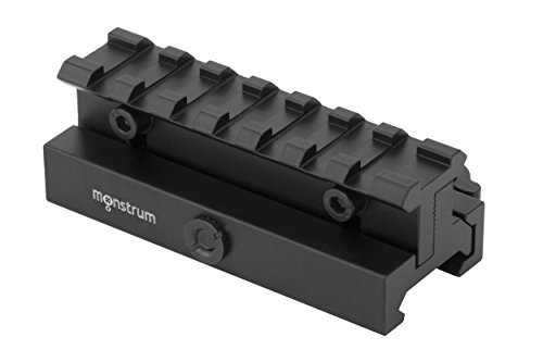 Monstrum Lockdown Series Adjustable Height Picatinny Riser Mount with Quick Release | 3.5 inch