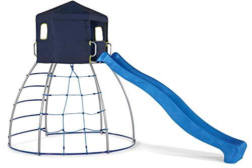 Plum- Cúpula para Escalar con Tobogán, Color Azul/Metal (77722117)