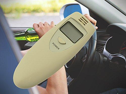Alcoholímetro Alcohol Tester Alcohol Respiración de alcohol digital auto coche para conductores mehrfachbenutzbar para Francia Viajes con alarma acústica